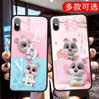 荣耀9x手机壳新款小鼠8x华为mate30pro玻璃play男女v20潮流防摔套