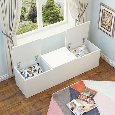 飘窗柜窗台柜卧室地柜上翻门柜矮柜榻榻米柜阳台储物柜收纳柜定制