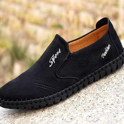 春季透气防臭男士休闲鞋老北京布鞋男软底防滑牛筋底中青年父亲鞋