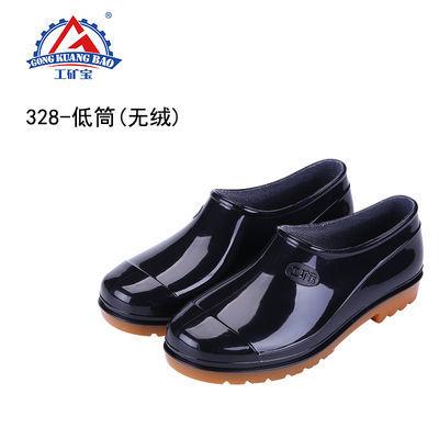 新品防水牛筋底雨鞋男胶鞋耐磨高筒雨靴加厚水鞋防滑劳保洗车水靴
