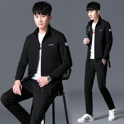 夏装2020春季男士运动服长袖休闲卫衣薄款长袖青少年三件套套装潮