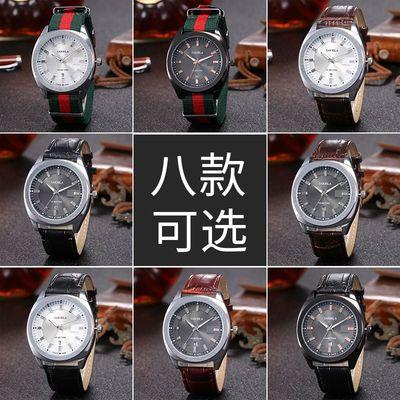 手表男学生韩版防水日历电子表简约潮流百搭青少年社会手尼龙表带