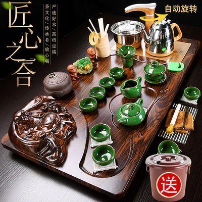 吉祥弥勒大佛茶具套装特价全自动四合一整套功夫家用泡茶茶盘茶道