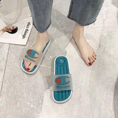 拖鞋女夏外穿时尚防滑防臭室内拖网红情侣款学生韩版透明凉拖鞋女