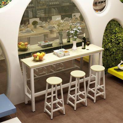 家用吧台桌客厅隔断餐桌靠墙奶茶店酒吧桌椅高脚长条桌厨房置物架