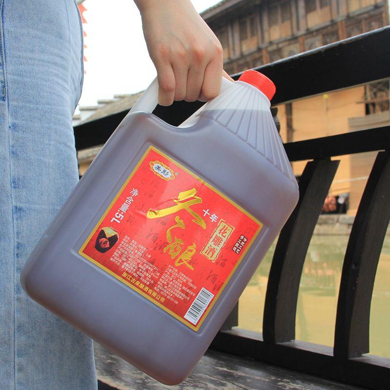75735-绍兴十年陈手工冬酿花雕酒十斤桶装糯米加饭可自饮料酒药引包邮-详情图