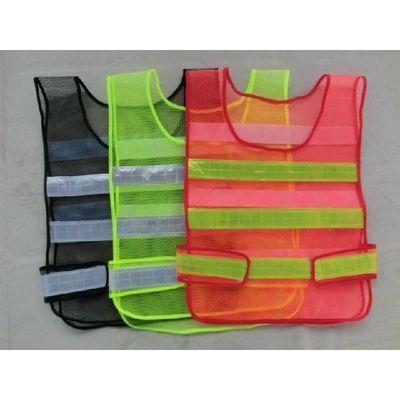五件包邮反光施工反光衣环卫反光衣/反光马甲/反光背心黑绿红色