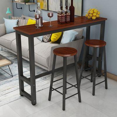 悦木清心靠墙吧台桌家用吧台桌简易吧台桌简约酒吧桌高脚桌咖啡桌