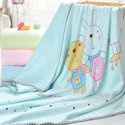 婴儿浴巾宝宝新生儿洗澡毛巾被纯棉超柔吸水儿童盖毯纱布加厚秋冬