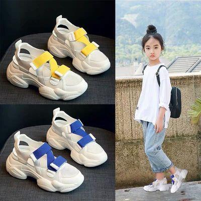 儿童凉鞋女童运动凉鞋女孩时尚软底老爹鞋子2020夏季新款中大童鞋
