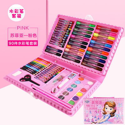 迪士尼儿童水彩笔套装画画工具画笔蜡笔绘画本彩笔画笔绘画套装