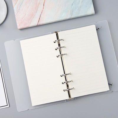 简约磨砂透明活页本笔记本方格空白横线替芯A4B5A5A6手账记事本子