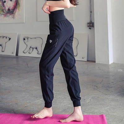17561/春夏专业运动瑜伽裤女高腰健身房训练裤休闲长裤宽松显瘦速干薄款