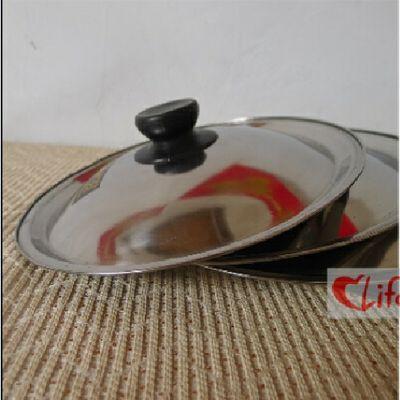 不锈钢锅盖铁锅盖子炒锅盖子平底锅小锅盖20 22 24cm 26cm 28cm【