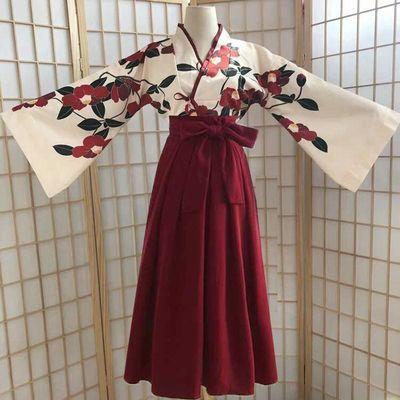汉服女学生汉元素齐腰半裙日常广袖中国风川黛虞美人东方复古套装