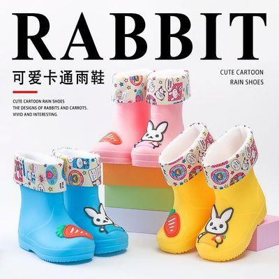 儿童雨鞋加绒保暖宝宝公主小孩雨靴幼婴水鞋男女中童小童防滑雨具
