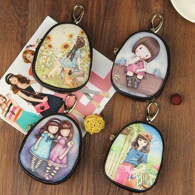 可装银行卡10把钥匙包女卡通多功韩版可爱零钱包汽车锁匙包配真皮