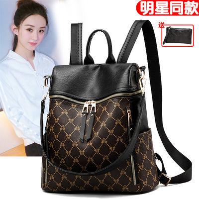 多功能单双肩包女春夏大容量背包韩版牛津布书包时尚潮两用女包包