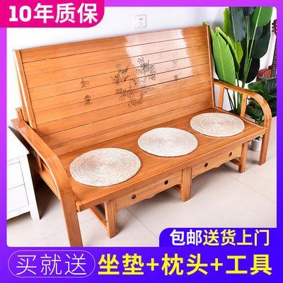 沙发床两用多功能可折叠竹床三人家用客厅小户型出租房双人床包邮