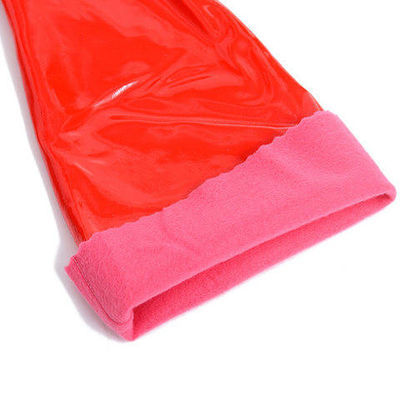 加长加绒PU一体绒家务手套洗碗洗衣服劳保手套防水耐磨洗车棉手套