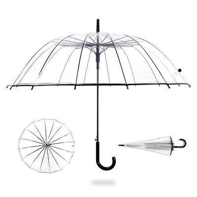 透明雨伞大号长柄直杆伞16骨加厚雨伞男女ins网红晴雨伞两用学生