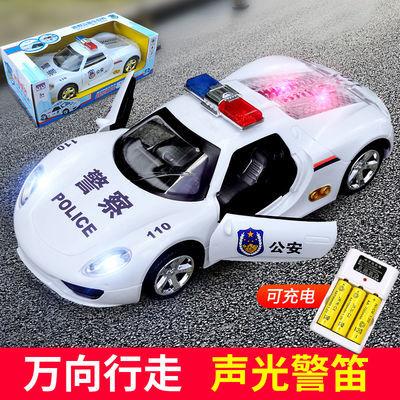 超大号充电电动玩具车声光警笛音乐法拉利自动开门警察车模型汽车