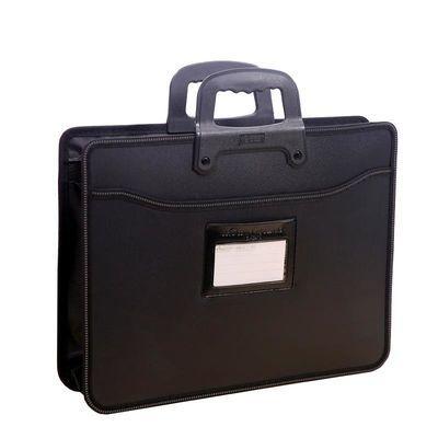 A4防水加厚手提资料袋拉链袋帆布文件包双层办公文件袋定制LOG