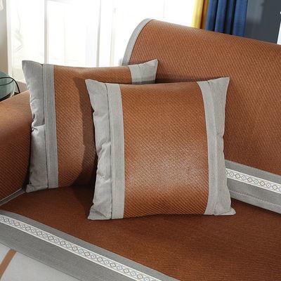 冰藤沙发垫凉垫席子夏天欧式凉席夏季沙发垫夏冰丝客厅防滑全包套