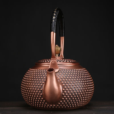 新品茶壶铜壶纯手工紫铜壶加厚养生烧水煮茶壶日式泡茶无涂层功夫