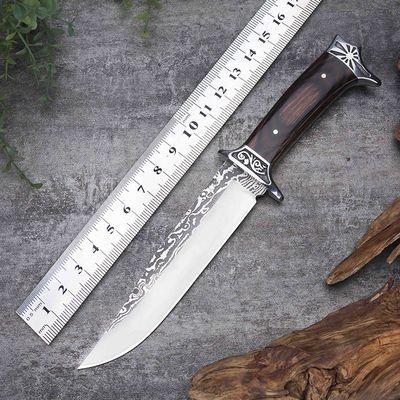 户外刀具战术特战直刀野外求生多功能军刀长款防身随身高硬度小刀