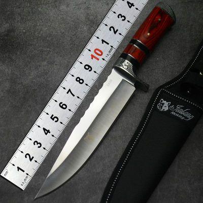美国户外刀具小刀随身防身刀野外求生刀直刀生存一体高硬度狩猎刀
