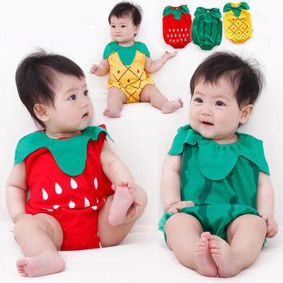 婴儿连体衣夏季纯棉新生儿三角哈衣爬服造型衣男女宝宝包屁衣薄款