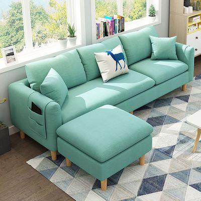 布艺沙发客厅小户型北欧简约现代家用卧室双人三人出租房屋小沙发