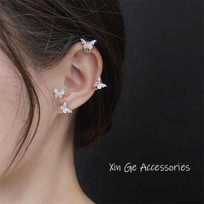 耳夹女新款蝴蝶耳环无耳洞耳钉超仙冷淡风韩国气质小巧银针耳饰品