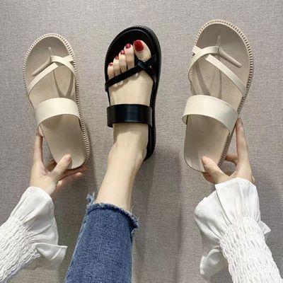 港风外穿运动拖鞋女夏2020新款时尚休闲沙滩鞋厚底防滑套趾凉拖鞋