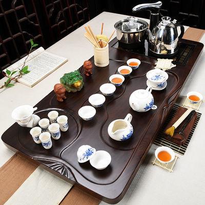 新品亿晟整套功夫茶具套装家用陶瓷泡茶全自动四合一实木茶盘紫砂