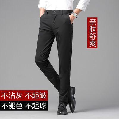 夏季高端商务男士修身休闲裤韩版时尚西裤牛仔裤子