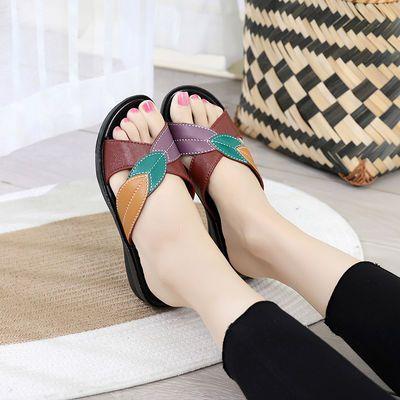 【疯狂促销】夏季女士防滑妈妈拖鞋软底中老年人粗跟合适室内外穿【3月7日发完】