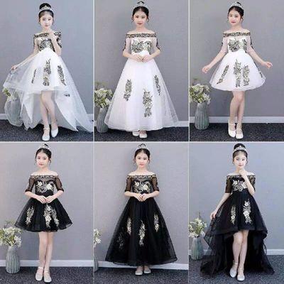 儿童结婚婚纱新娘公主蓬蓬裙2020新款连衣裙女童走秀演出礼服长裙