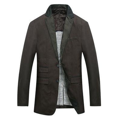 特价春秋季便装西服男士外套上衣青年加厚修身商务休闲小西装男