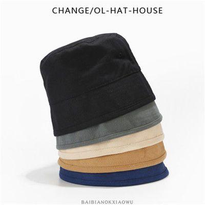 日本小众设计师款出色复古水桶帽盆帽时尚街头男女棉麻渔夫帽子潮