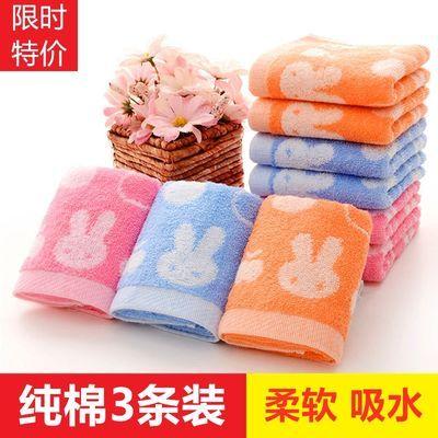 3-10条装儿童毛巾纯棉柔软吸水洗脸家用手巾婴儿小方巾洗澡巾批发
