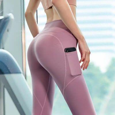 蜜桃提臀健身裤女高弹紧身运动打底裤高腰收复健美跑步训练瑜伽裤