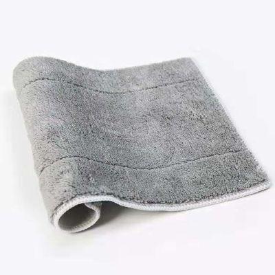 夹固式平板拖布替换布平拖配布加厚把布干湿两用钢夹布毛巾布