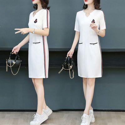 胖妹妹夏季连衣裙女2020新款大码女装中长款宽松显瘦直筒休闲裙子