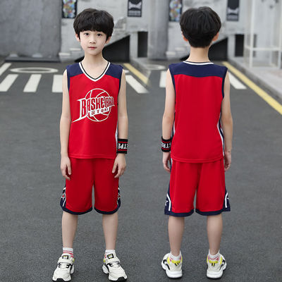 男童套装夏装洋气透气中大童夏季儿童运动速干衣男孩篮球服背心潮