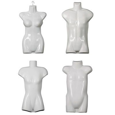 示模特衣架塑料模特片悬挂假人服装模特道具男女半身儿童泳衣展