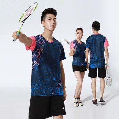 韩版羽毛球服套装男女短袖球衣速干透气乒乓球排球比赛运动服印字