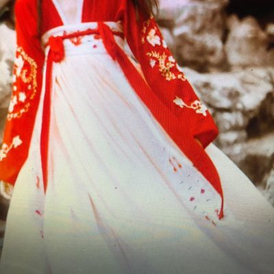春夏传统锦鲤绣花汉服女唐制齐胸襦裙大摆裙古装仙女超仙清新飘逸