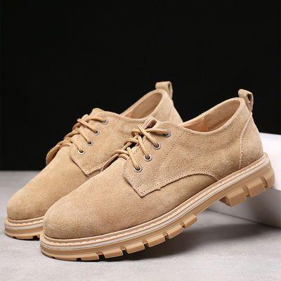 新款男士真皮鞋厚底商务鞋男韩版马丁鞋潮流英伦工装靴鞋休闲皮鞋